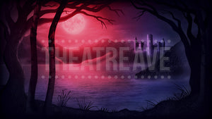 Castle Lake Red Projection, an abstract digital projection backdrop perfect for theatre and ballet shows like Swan Lake, Snow White and Beauty and the Beast