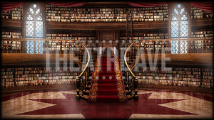 Castle Library, a digital scenic projection for theatre, ballet and dance shows like Beauty and the Beast and more!