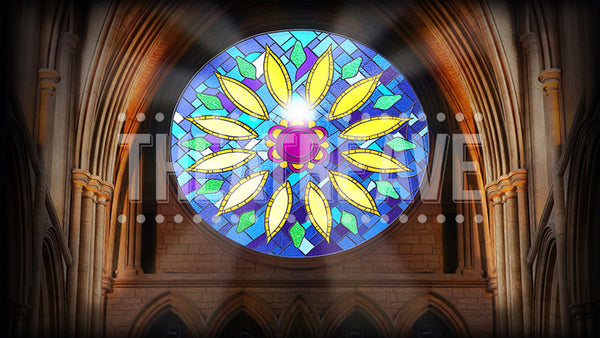 Cathedral Window Shatters Projection (Animated)