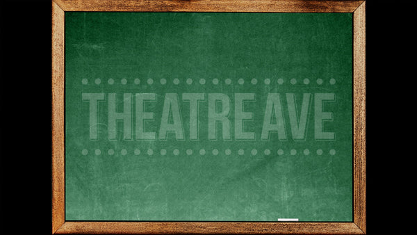 Chalkboard digital theatre projection perfect for shows like Matilda and School of Rock
