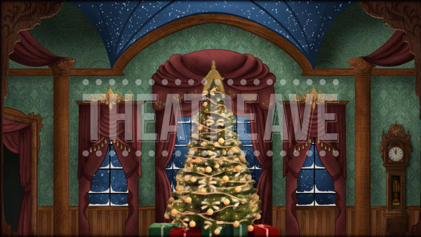 Christmas Parlor Projection (Animated)