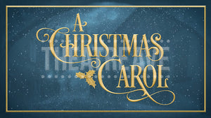 Christmas Carol title projection by Theatre Avenue for theatrical and ballet shows.