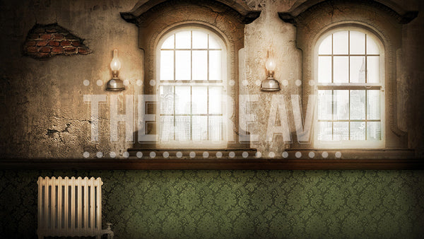 City Orphanage, a digital theatre projection backdrop perfect for shows like Annie, James and the Giant Peach, and Oliver