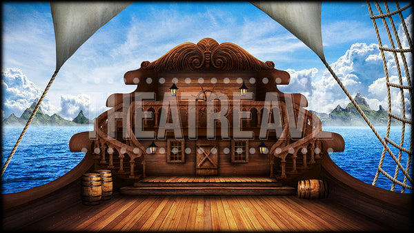 Classic Ship Deck, a digital projection backdrop perfect for theatre, ballet and dance shows like Little Mermaid
