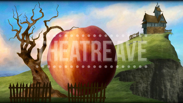 Cliffside Peach Grows Projection (Animated)