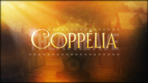 Coppélia title projection by Theatre Avenue for ballet and dance shows.