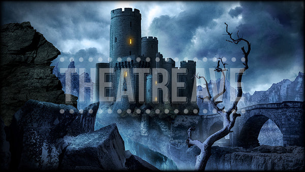 Dark Castle, a digital projection backdrop perfect for shows like Wizard of Oz, Sleeping Beauty, Shrek and Snow White.