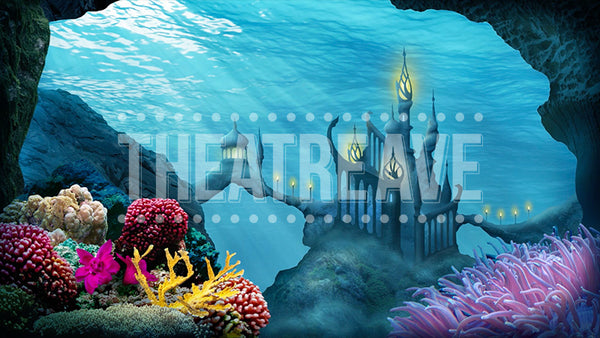 Deep Sea Palace, a digital scenic projection backdrop perfect for theatre, ballet and dance performances like Little Mermaid