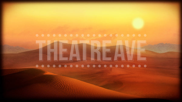 Desert Vista, a digital theatre projection backdrop for shows like Aladdin, Lion King, and Joseph
