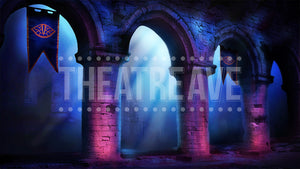 Dragon Castle, a digital theatre projection backdrop perfect for shows like Shrek, Beauty and the Beast, and Three Musketeers