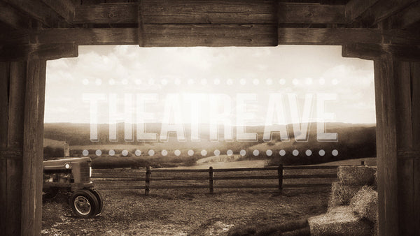 Dustbowl Farm, a sepia digital projection backdrop perfect for shows like The Wizard of Oz