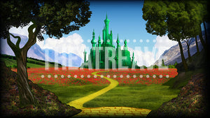 Emerald City, a digital theatre projection backdrop perfect for Wizard of Oz