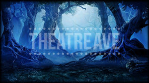 Enchanted Night Forest, a digital theatre projection backdrop for shows like Wizard of Oz, Big Fish, Sleepy Hollow and Midsummer Night's Dream