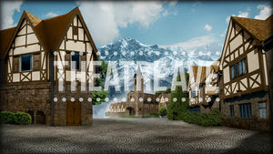 European Village, a digital theatre projection backdrop perfect for shows like Beauty and the Beast, Sound of Music and Spamalot