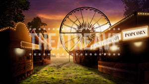 Fair at Dusk, a digital theatre projection backdrop perfect for shows like Charlotte's Web, Big Fish, and Oklahoma on stage