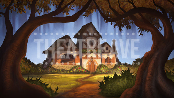 Fairy Tale Cottage, a digital theatre projection backdrop great for shows like Snow White, Hansel and Gretel and Into the Woods