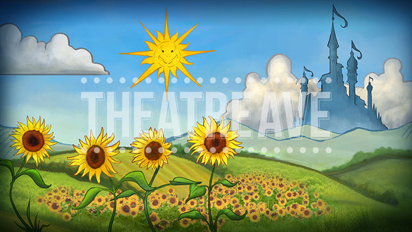 Fairy Tale Country, a digital theatre projection backdrop perfect for musicals like Shrek