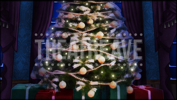 Grand Parlor Tree, a digital theatre projection backdrop perfect for stage shows like Nutcracker Ballet