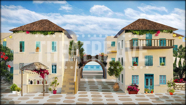 Greek Courtyard Projection (Animated)