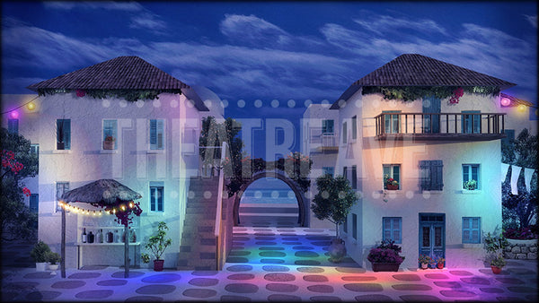 Greek Courtyard Party Projection (Animated)