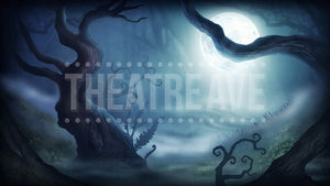 Haunted Woods, a digital projection backdrop designed for theatre, ballet and dance shows like Sleepy Hollow, Into the Woods and Alice in Wonderland
