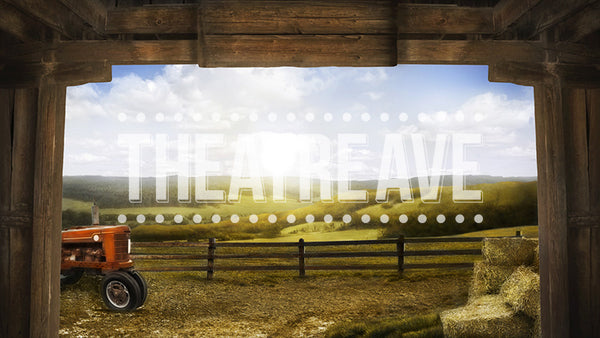 Inside the Barn, a digital theatre projection backdrop perfect for performances like Charlotte's Web