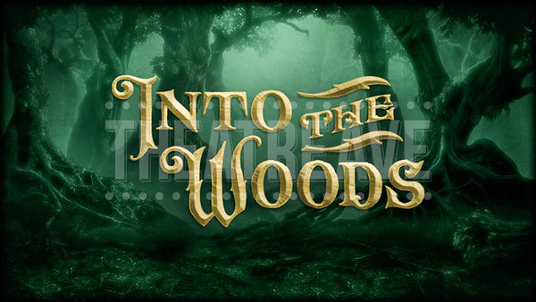 Into the Woods projection, for your opening show curtain or intermission.