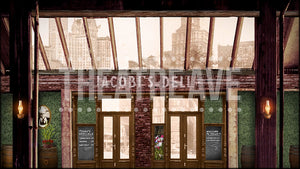 Jacobi's Deli, a digital projection backdrop for theater and dance performances.