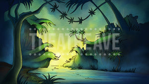 Jungle Sunrise, a digital theater projection backdrop perfect for shows like Seussical and Seussical Jr.