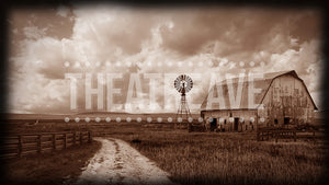 Kansas Farm, a theatre projection backdrop perfect for shows like Wizard of Oz.