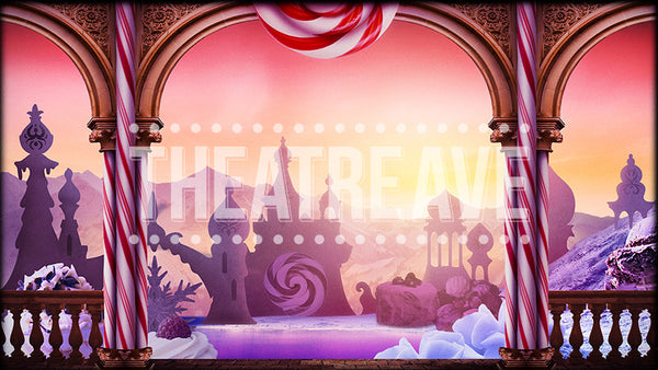 Land of Sweets, a digital projection backdrop perfect for theatre, ballet and dance shows like Nutcracker