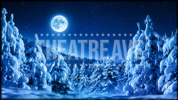 Land of Snow, a Nutcracker projection backdrop by Theatre Avenue.