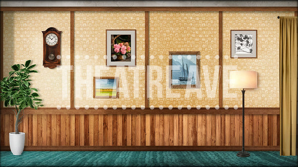 Living Room, a retro digital projection backdrop perfect for shows like Mary Poppins, Big Fish, Matilda and more!