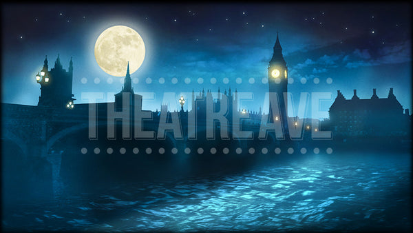 London Midnight, a digital projection backdrop for theatre and ballet shows like Mary Poppins, Christmas Carol and Peter Pan