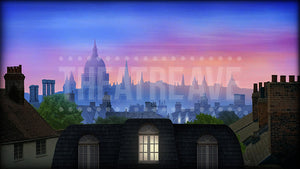 London Rooftops, a digital theatre projection backdrop perfect for shows like Mary Poppins and Peter Pan
