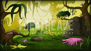 Lush Jungle, a digital theatre projection backdrop for Seussical the Musical