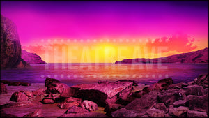 Mediterranean Shore at Sunset, a Mamma Mia projection backdrop by Theatre Avenue.