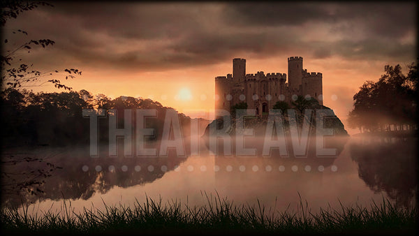Medieval Castle Sunset Projection