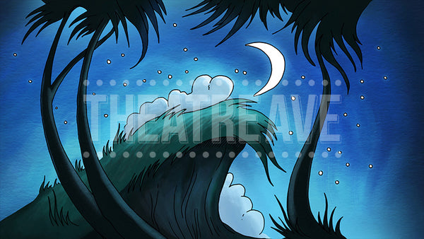 Night Cliff, a digital theatre projection backdrop perfect for shows like Seussical the Musical