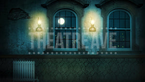 Night Orphanage, a digital theatre projection backdrop designed for shows like Annie, Oliver and James and the Giant Peach