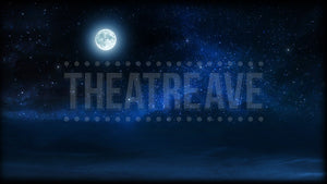 Night Sky with Moon, a digital projection backdrop perfect for theatre and ballet shows like Peter Pan, Into the Woods and Shrek.