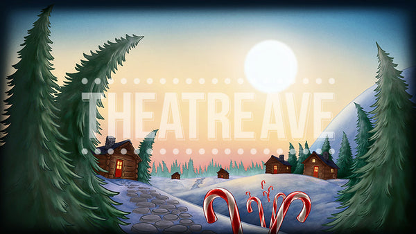 North Pole Morning, a digital theatre projection perfect for shows on stage like Elf the Musical