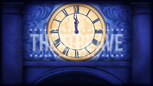 Old World Clock, a digital theatre projection backdrop perfect for shows like Cinderella and Peter Pan