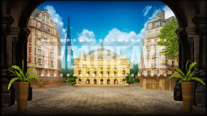 Paris Avenue, a digital theatre projection backdrop perfect for shows like Phantom of the Opera