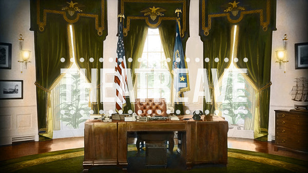 President's Office, a digital theatre projection backdrop perfect for shows like Annie the Musical