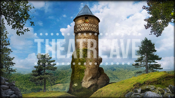 Rapunzel's Tower, a digital projection backdrop perfect for Into the Woods and fairy tale ballets.