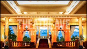 Resort Lobby, a digital projection backdrop perfect for theatre, ballet and dance shows like Dirty Rotten Scoundrels