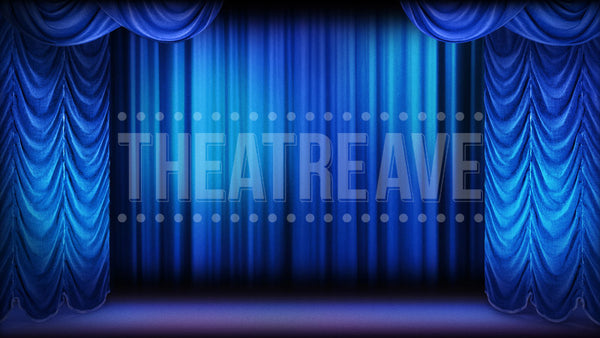 Show Curtain Blue, a digital projection backdrop for shows like Big Fish, Grease and Bye Bye Birdie.