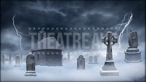 Snowy Graveyard Storm Projection (Animated)