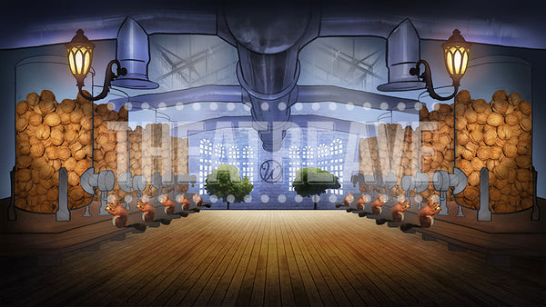 Squirrel Nut Room, a digital theatre projection backdrop perfect for shows like Charlie and the Chocolate Factory.